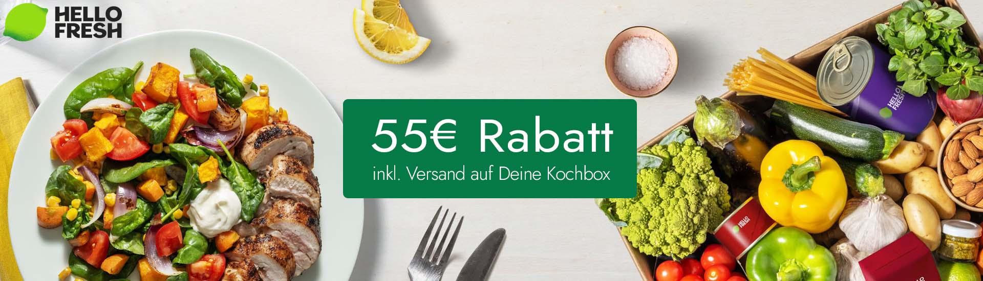 55€ Rabatt auf deine 1. Kochbox