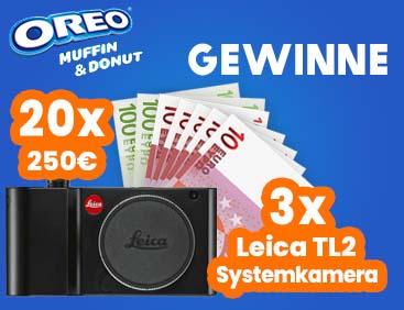 OREO: Gewinne 250€ oder eine Leica-Kamera TL2